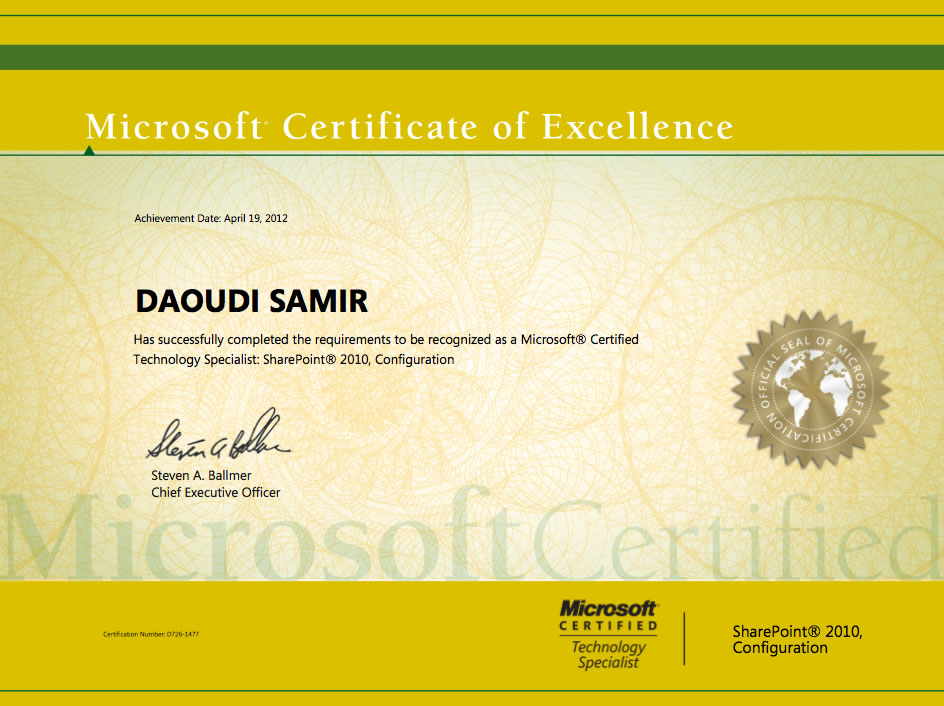Certifications - Samir Daoudi\'s Technical Blog