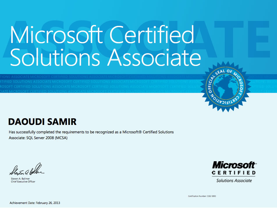 Certifications Daoudi Samirs Technical Blog