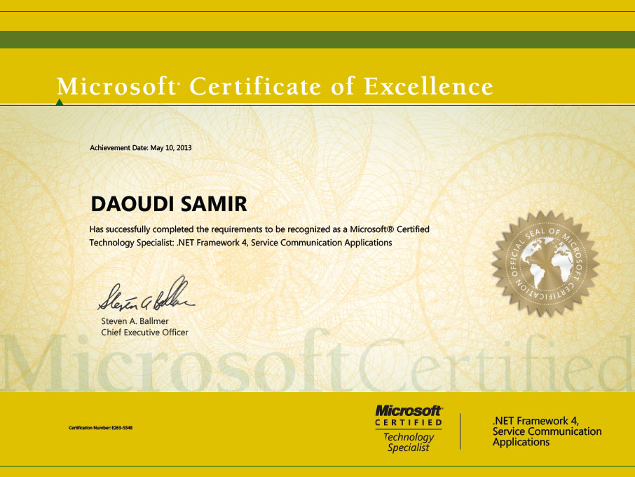 Certifications Samir Daoudis Technical Blog