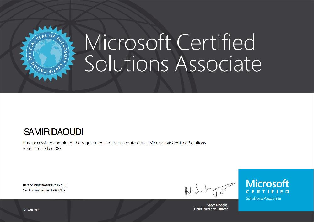 Certifications Samir Daoudis Technical Blog